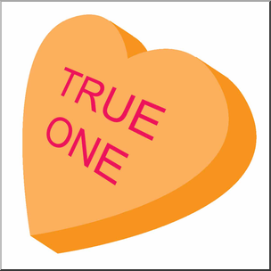 Clip Art: Candy Heart Orange Color I abcteach.com.
