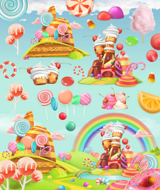 Best Candy Land Illustrations, Royalty.