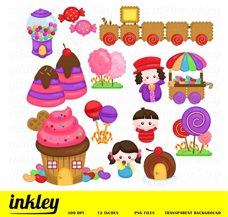 Candyland Fantasy Clipart, Candyland Fantasy Clip Art, Candyland Fantasy  Png, Candy Clipart, Kids Clipart, Food Clipart, Kids Clipart.