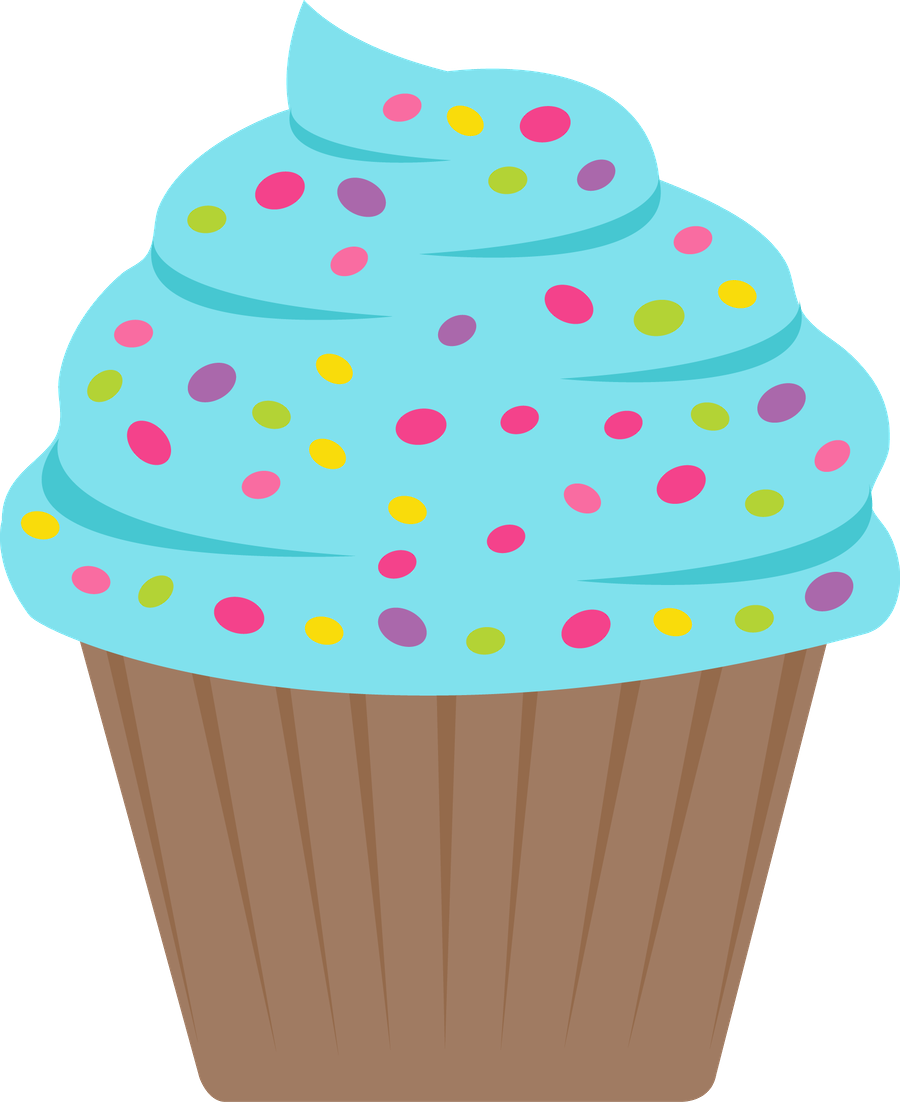 Candyland clipart bday cupcake.