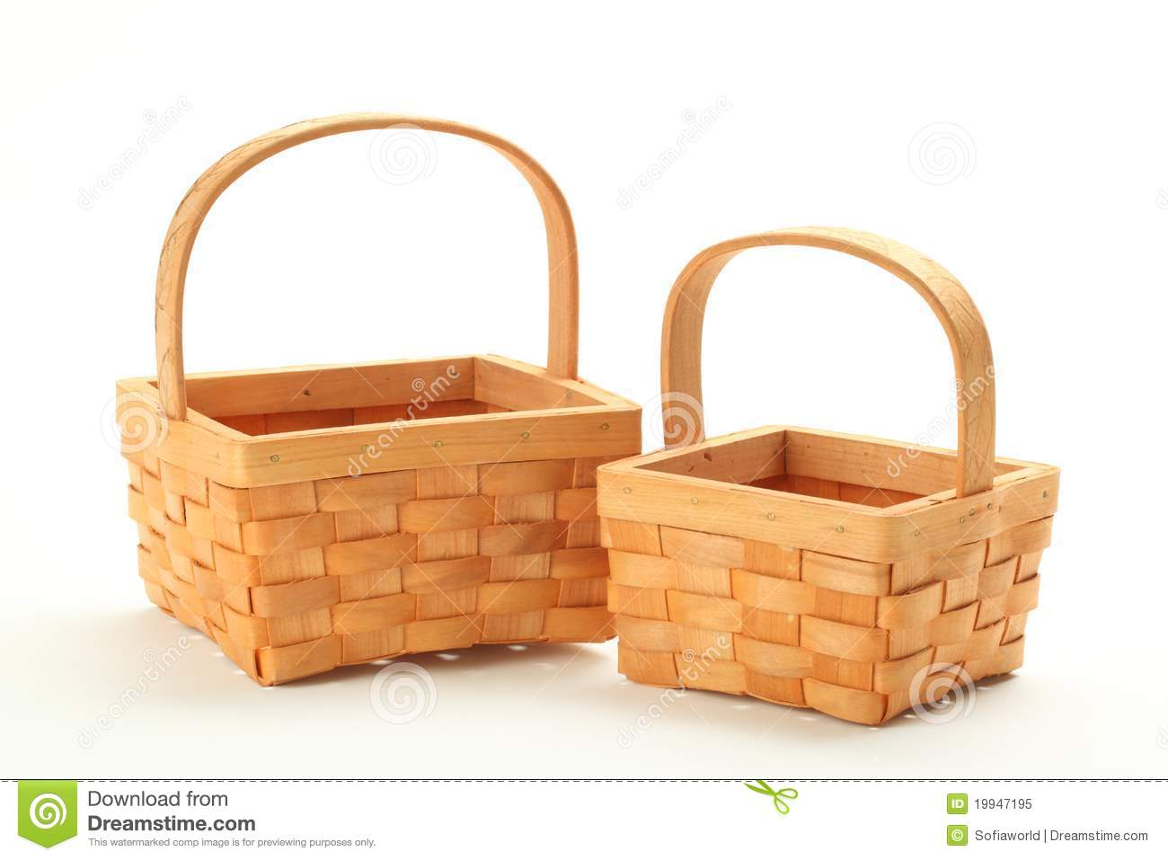 Empty Gift Basket Clipart.