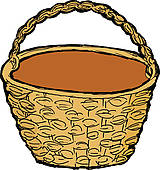 Wicker Basket Clip Art.