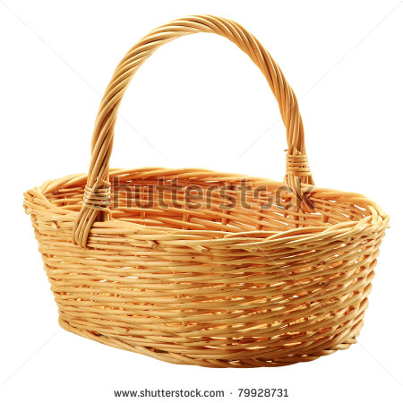 Empty Fruit Basket Clip Art Empty Wicker Basket Isolated #Mt2mLC.