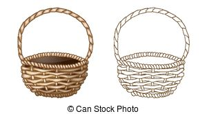 Wicker basket Illustrations and Stock Art. 2,402 Wicker basket.