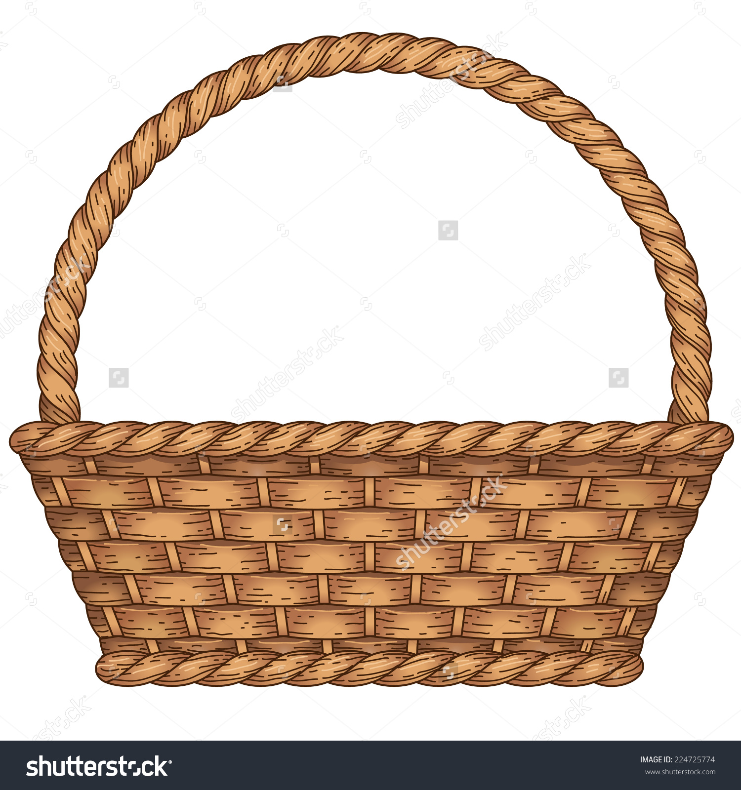 Cane basket clipart 20 free Cliparts | Download images on ...