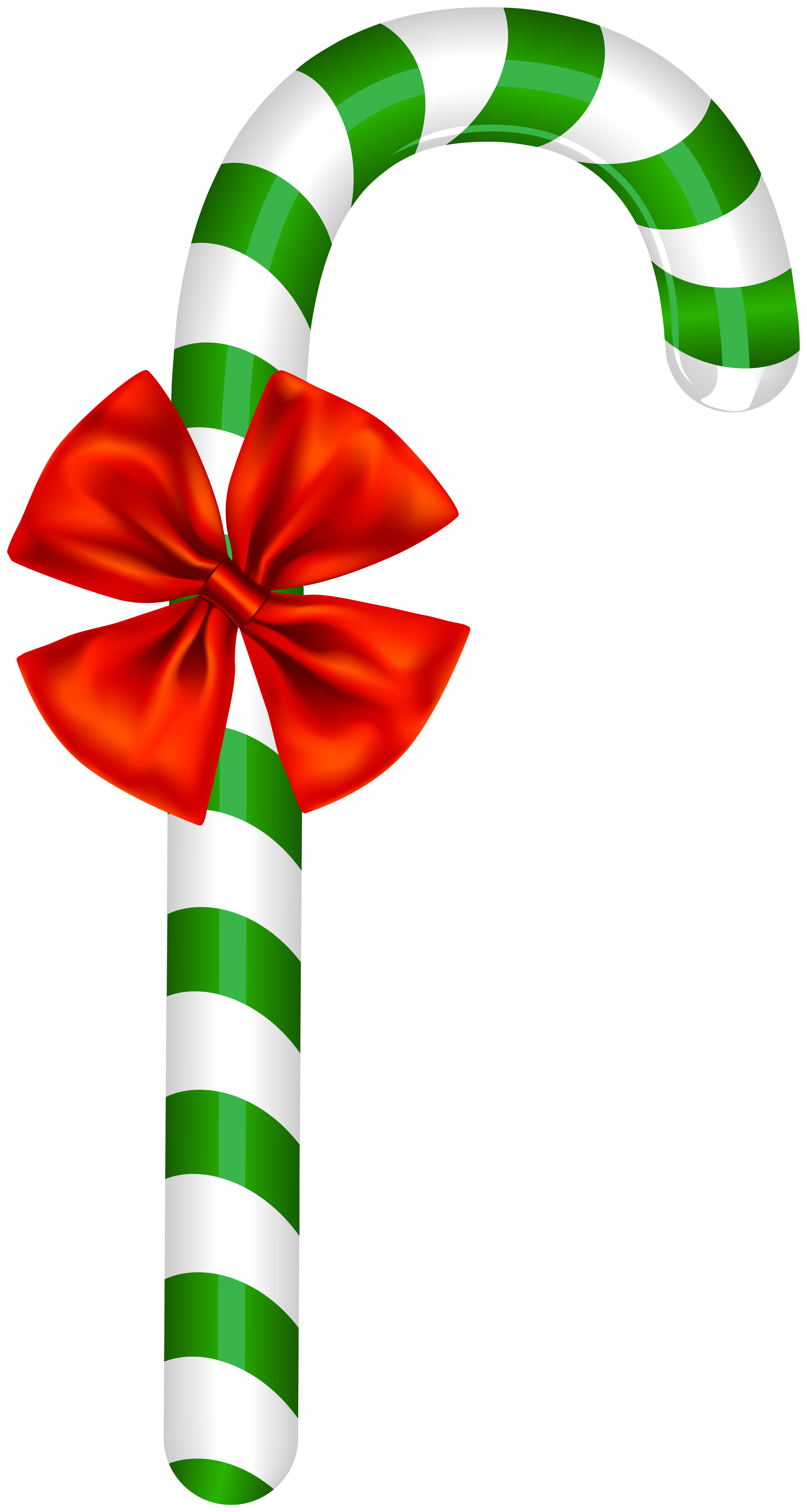 Peppermint Candy Cane Clip Art Image.
