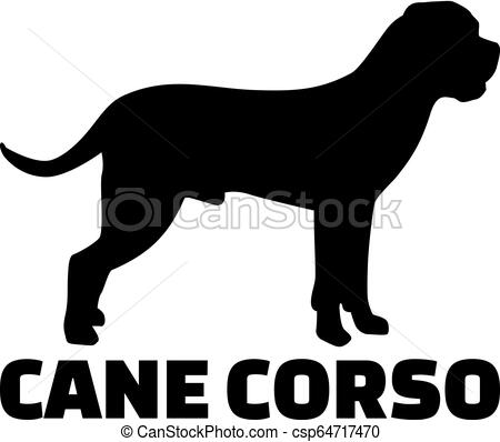 Cane Corso silhouette real word.