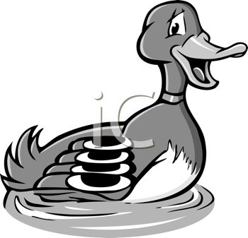 Royalty Free Clip Art Image: Black and White Cartoon of a Male.