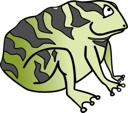 Cane toad clipart.
