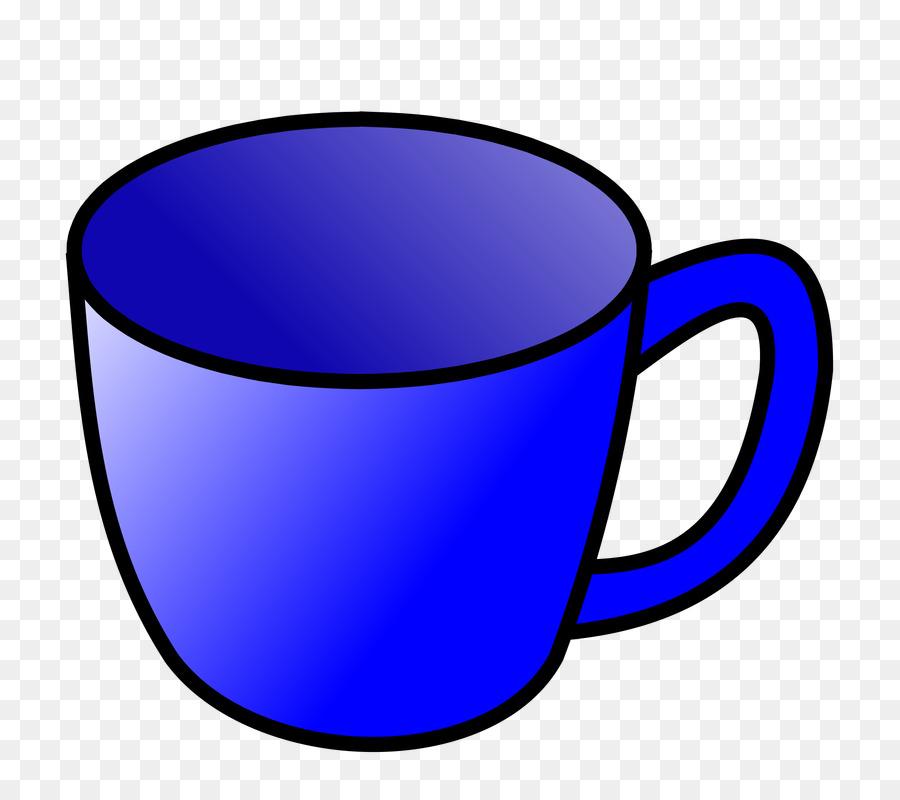 Azul cobalto Caneca de Clip.