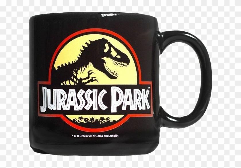 Caneca Jurassic Park Logo.
