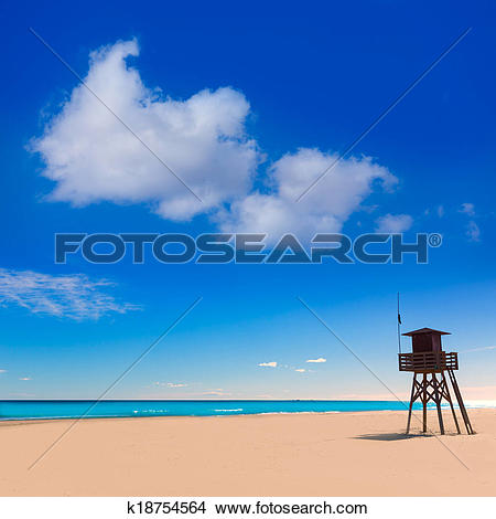 Stock Photo of Canet de Berenguer beach in Valencia in Spain.