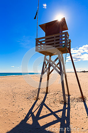 Canet De Berenguer Beach In Valencia In Spain Stock Photo.