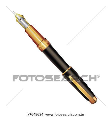 Antigas, caneta Clipart.