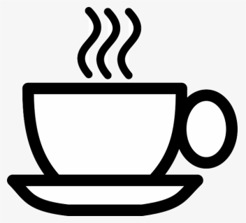 Free Coffee Black And White Clip Art with No Background.
