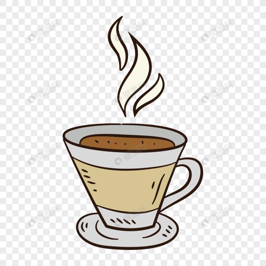 bahan vektor cangkir kopi cat air yang dilukis dengan tangan gambar.