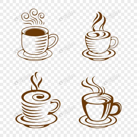 cangkir kopi yang digambar tangan gambar unduh gratis_ Grafik.