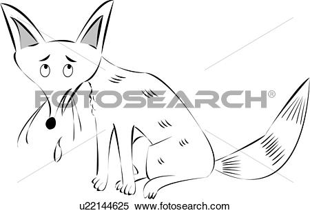 Clipart of canidae, sketch, canid, wild animal, wildlife, drawing.