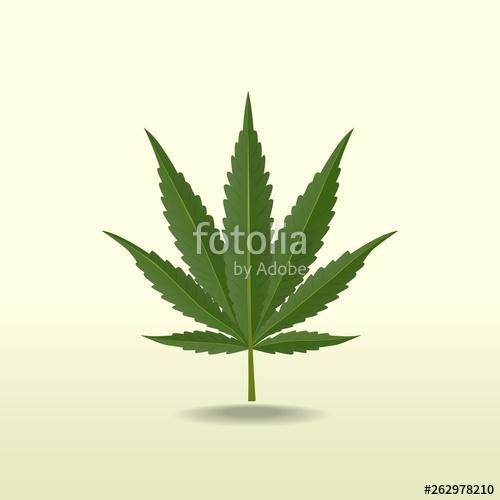 Marijuana vector cannabis leaf weed icon logo clip art illustration.