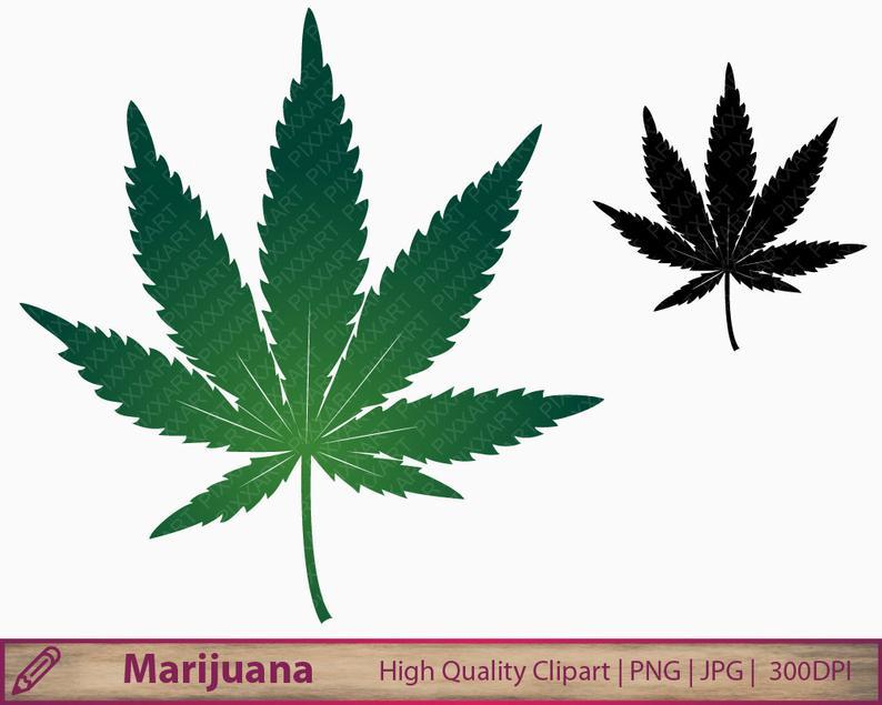 Marijuana clipart, marihuana weed clip art, cannabis graphics,  scrapbooking, commercial use, digital instant download, png jpg 300dpi.