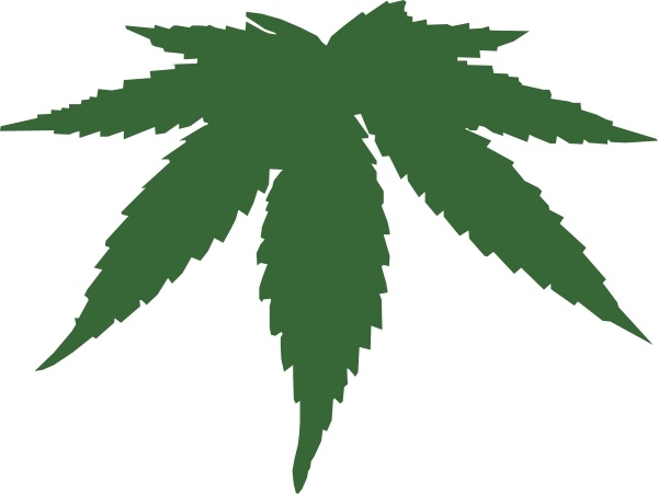 Cannabis Leaf clip art Free vector in Open office drawing svg.