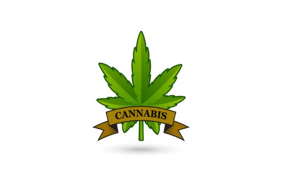 Cannabis leaf logo design.