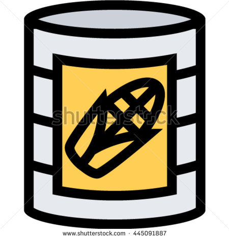 Canned Corn Outline Icon Stock Vector 445091887.
