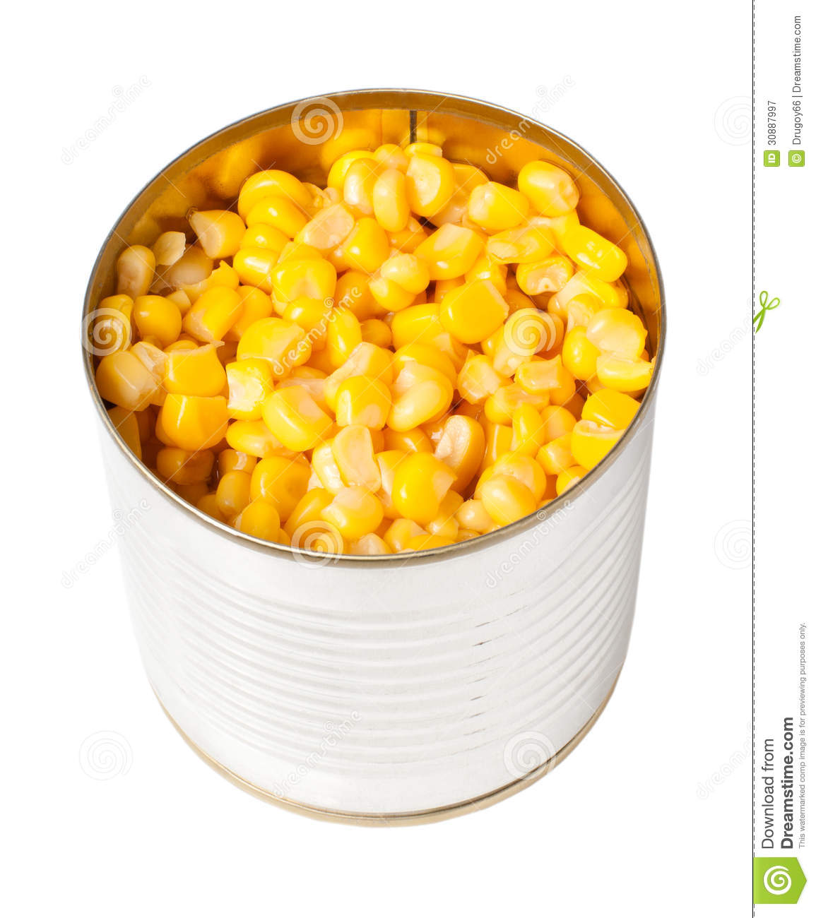 Canned Sweet Corn Royalty Free Stock Photography.
