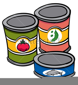Clipart Of Cans Of Food.