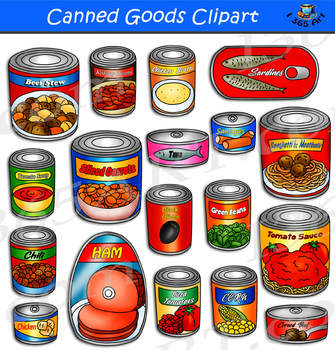Canned Goods Clipart.