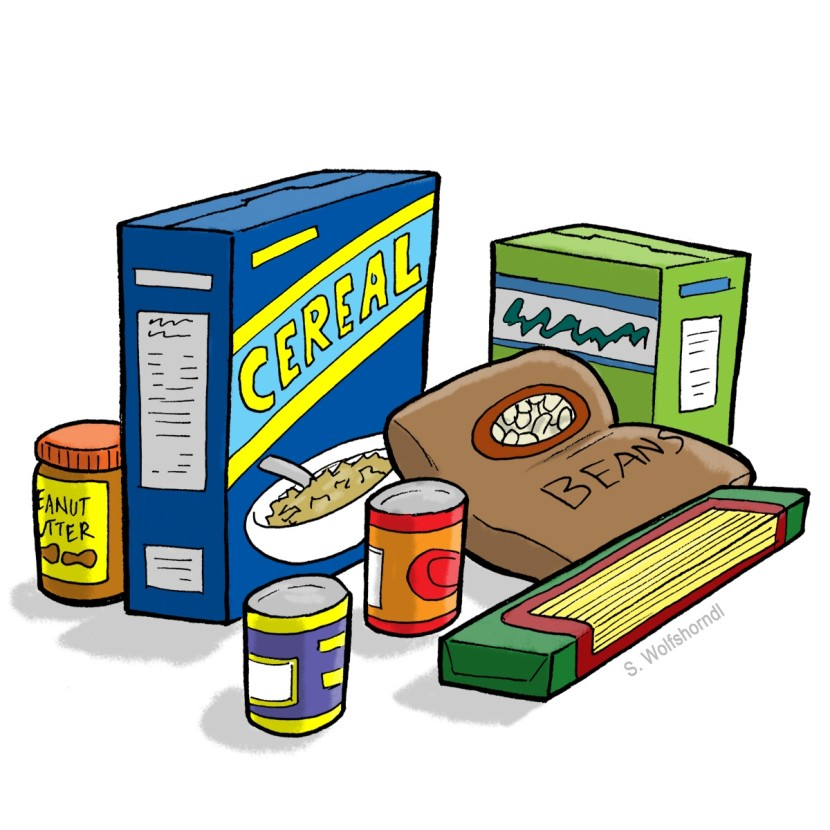 Canned food free clipart.