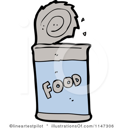 Canned Food Clipart Black And White.