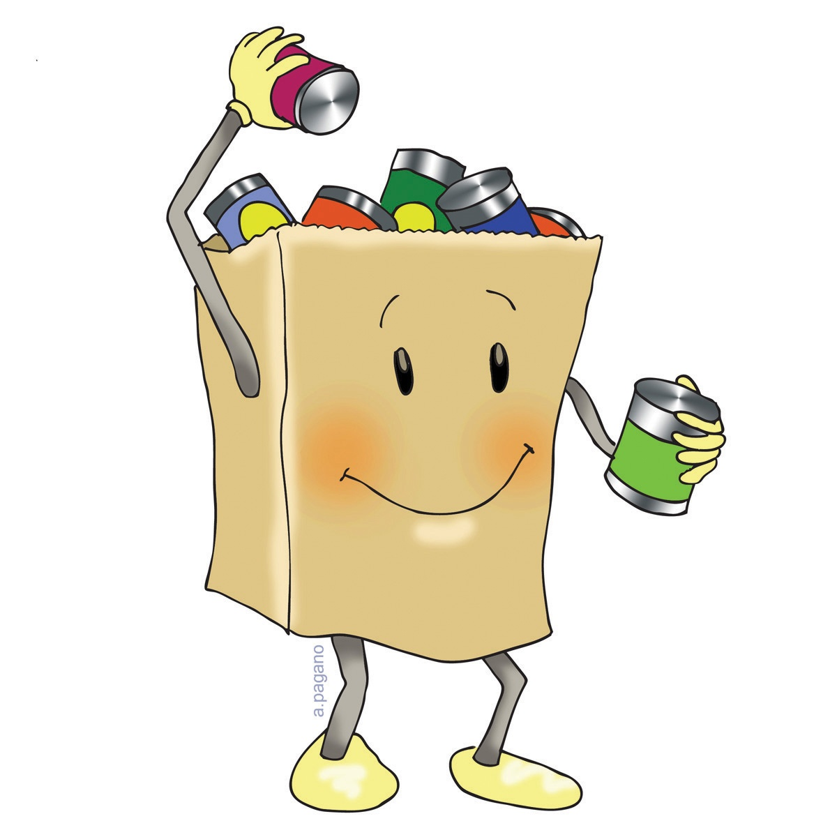 Canned Goods Food Pantry Clipart.