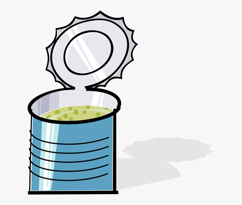 Vector Illustration Of Tin Can Of Prepared Pea Soup.