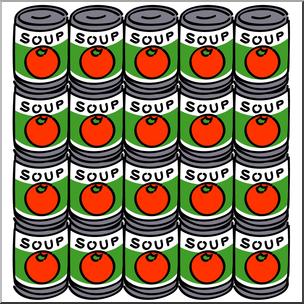 Clip Art: Soup Cans Color I abcteach.com.