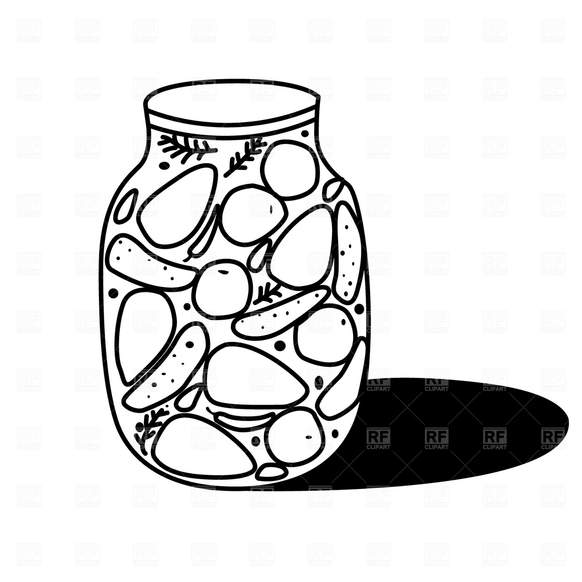 Vegetables black and white canned vegetables clipart free images.