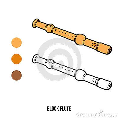 Livre De Coloriage : Instruments De Musique (cannelure De Bloc.