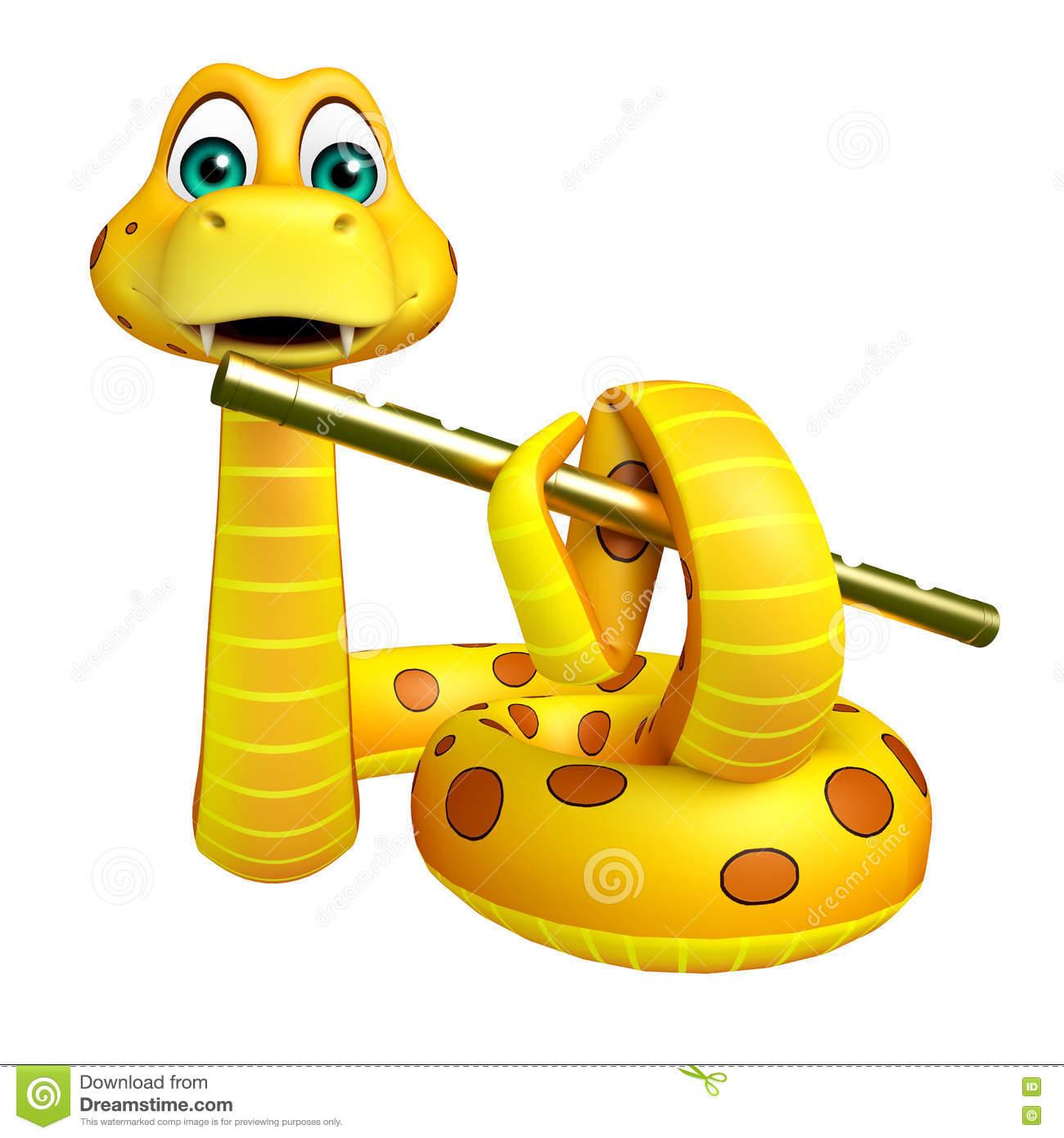 Personnage De Dessin Animé De Serpent Avec La Cannelure.