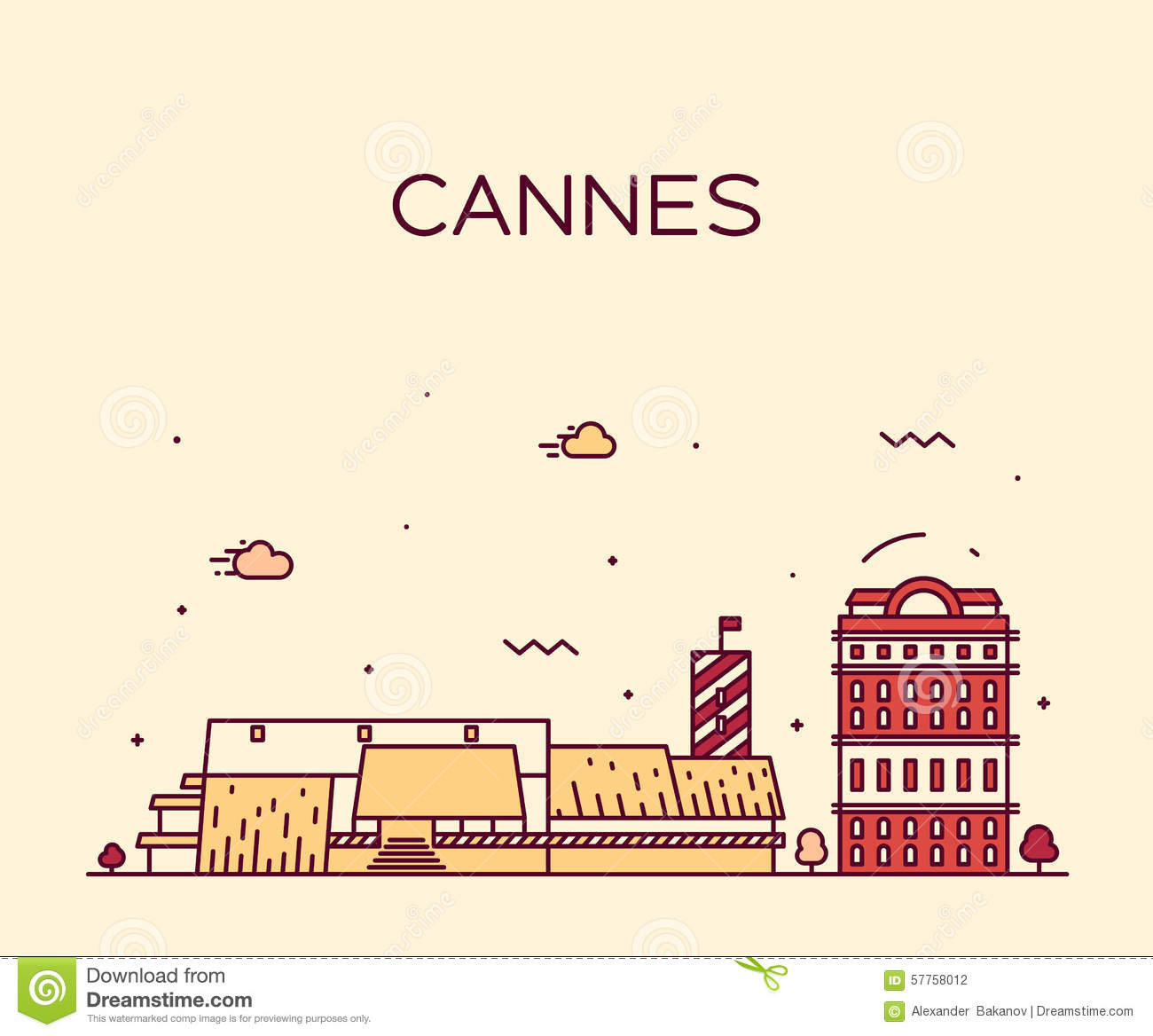 Cannes Stock Illustrations.