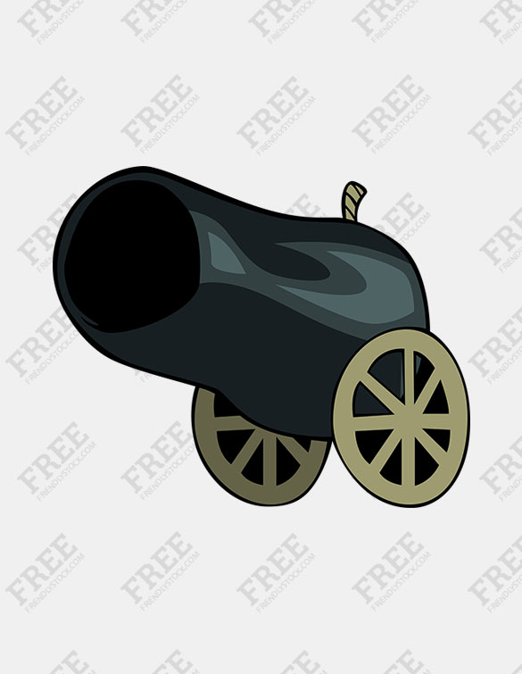 Free Graphic] Old Cannon.