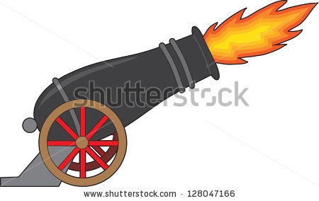 Cannon Fire Stock Images, Royalty.