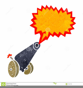 Clipart Cannon Firing.