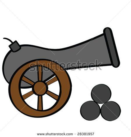 pirate cannon cartoon.