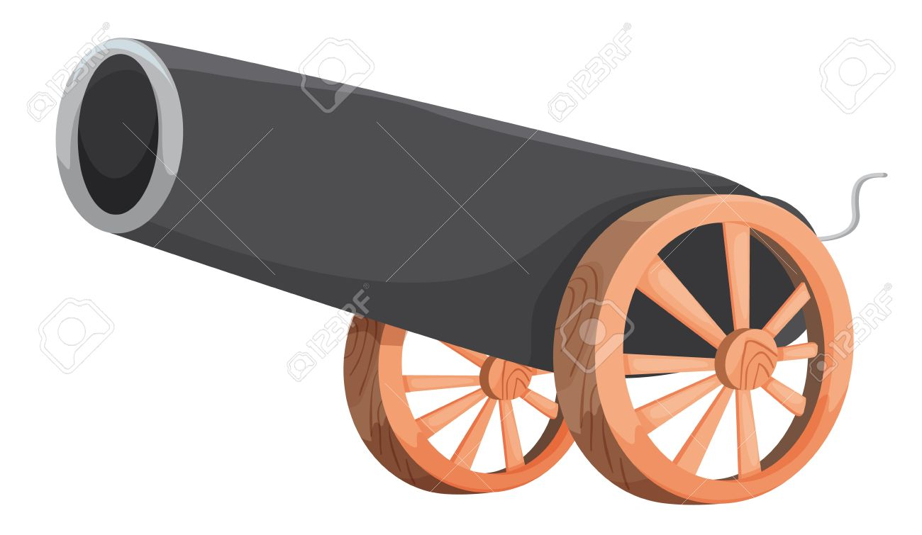 Pirate cannon clipart.
