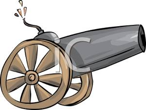 Art Image: A Cannon on Wheels.