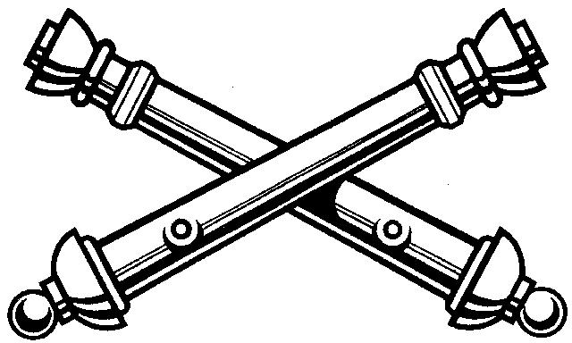 Field artillery crossed cannons clip art.