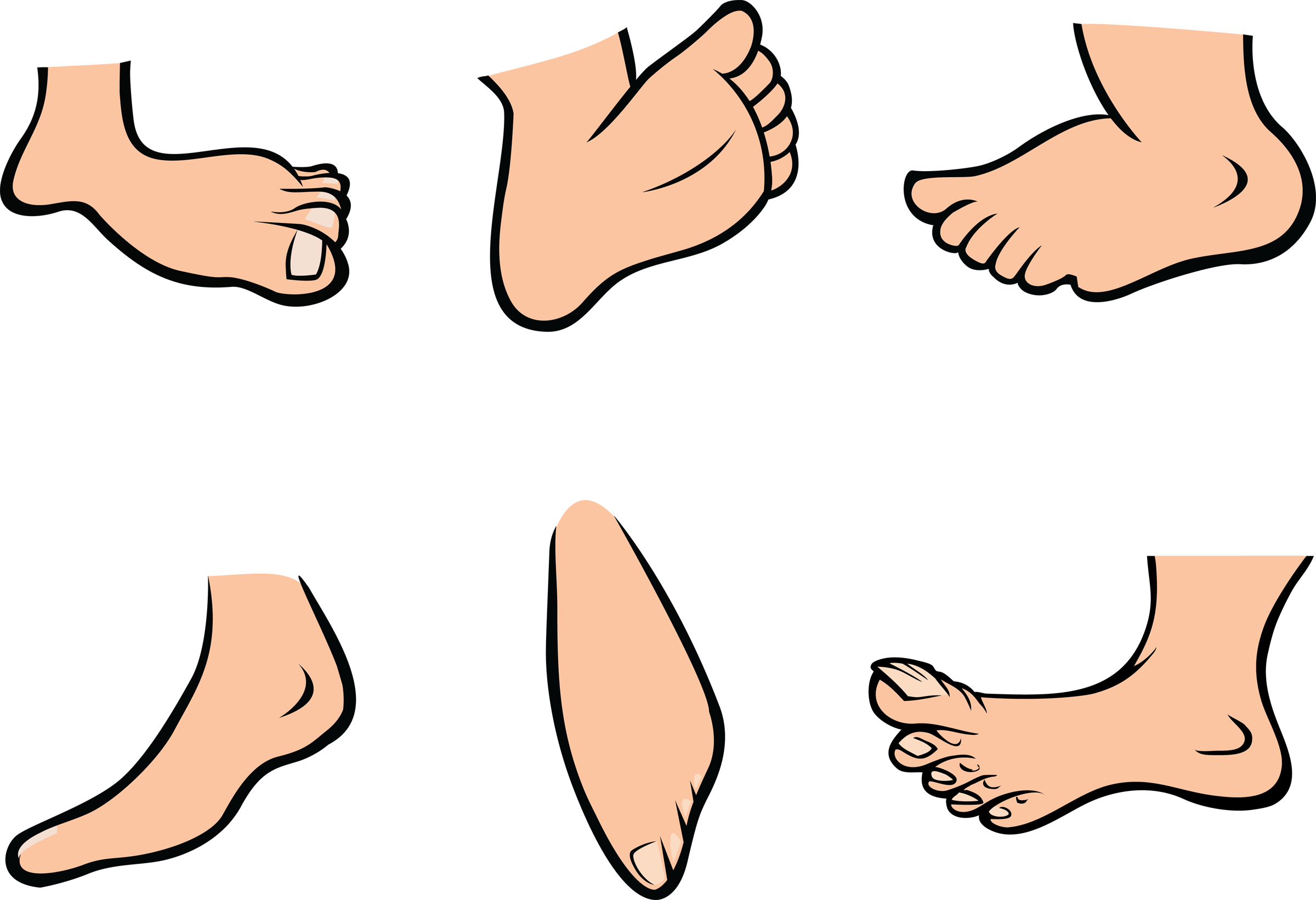 Pictures Of Cartoon Feet.