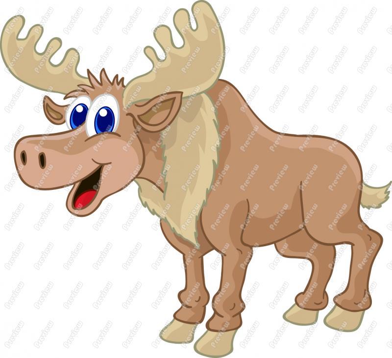 Moose cliparts.