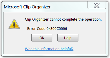 Cannot insert some clip art images using Word 2010.
