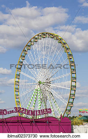 "Stock Photography of ""Ferris wheel, Cannstatter Wasen, Stuttgart."